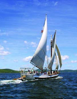 A 3-or 4-day sail aboard Maine Windjammer Cruises' 115-foot schooner Mercantile is a memorable way to go 'sailing solo.' © Ian Burnham/mainewindjammercruises.com