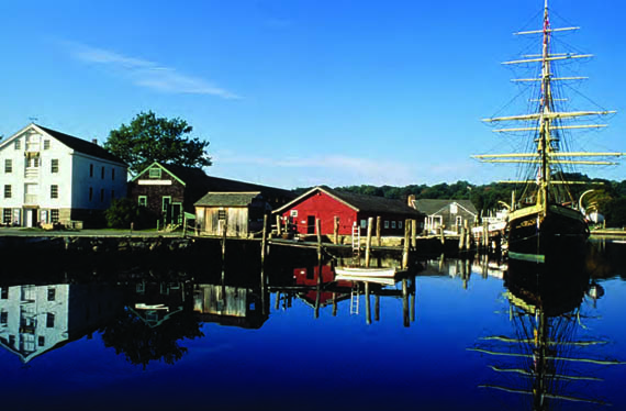 While you're in Mystic, be sure to visit Mystic Seaport, the Museum of America and the Sea. © mysticseaport.org