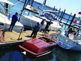 New and brokerage boats of all types will be on display at the Rhode Island Boat Show, which takes place at five different Ocean State venues on May 4 & 5. ©RIMTA.org