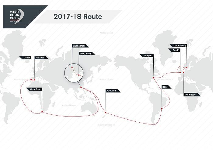 Volvo Ocean Race route