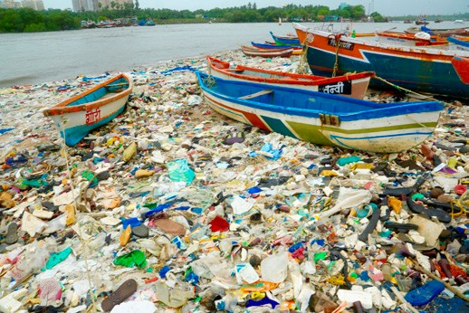 Plastic pollution in worlds oceans