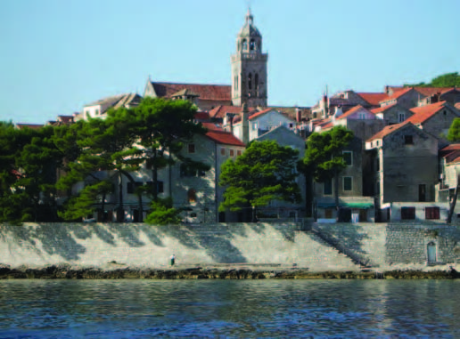 Korcula, as seen from Vadla