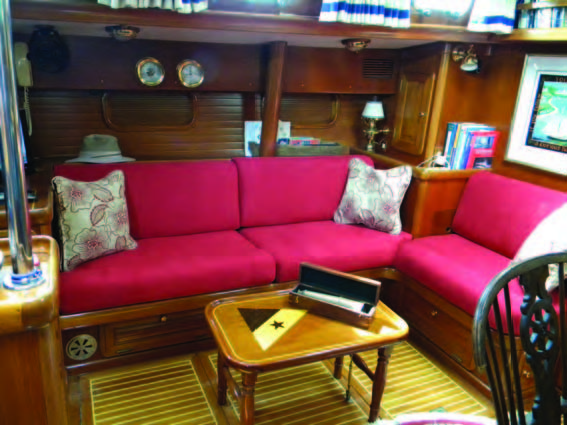 New cushions can transform the appearance of your boat's interior. © islandnautical.com