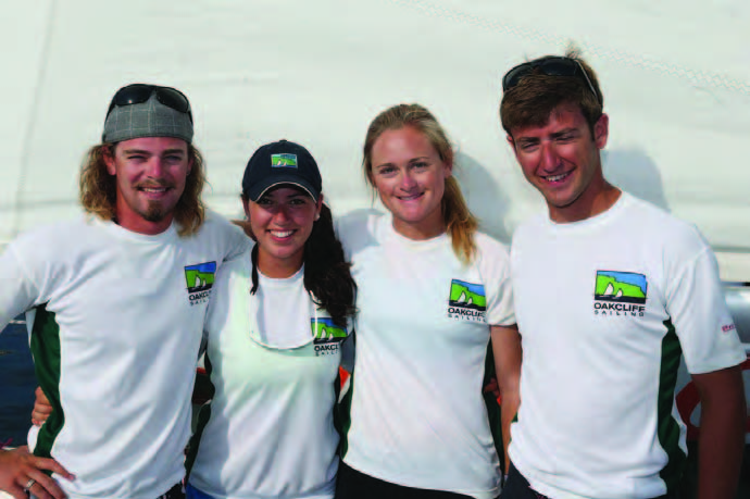 212 Degree Racing's Jonathan Hammond, Catalina Feder, Madeline Gill and Andries Feder plan to continue rising up in the ISAF Open Match Racing rankings this season. © Maggie Shea