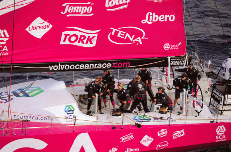 Team SCA will be the first all-female team in the race since the 2001-02 edition. © Rick Tomlinson/Team SCA.com