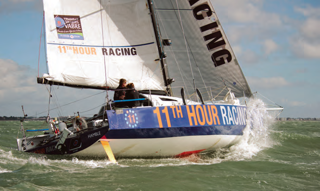 Pressing on despite a broken forestay, electronics failure and a leak that threatened to sink their Class40, Team 11th Hour Racing's Hannah Jenner and Rob Windsor completed the Transat Jacques Vabre. © Team11thHourRacing.com