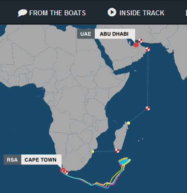 volvo ocean race leg 2 tracking position