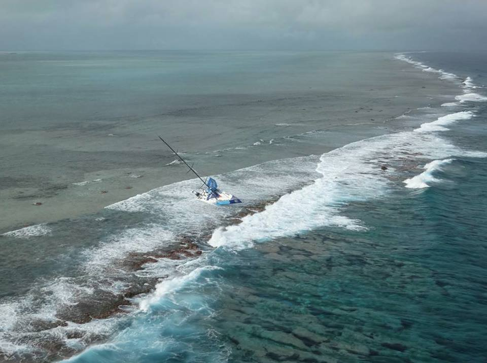 Team Vestas Wind on reef indian ocean