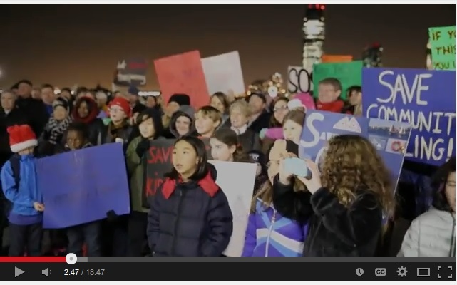 Video from Save North Cove Rally