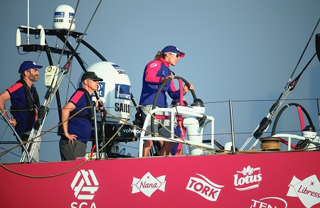 Team SCA wins Volvo Ocean Race In-port Race in Abu Dhabi