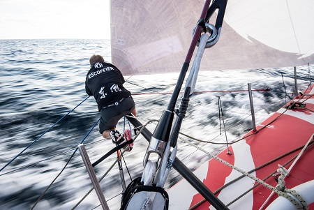 Dongfeng Race Team were battling on Thursday towards the opportunity to make Volvo Ocean Race history as Charles Caudrelier's (FRA) crew continued to defy the odds at the head of the fleet.
