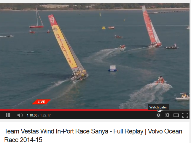 Sanya in port race 2015 volvo ocean race replay video