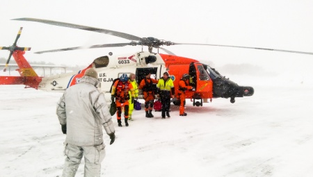 Coast Guard Rescue during Blizzard Nantucket