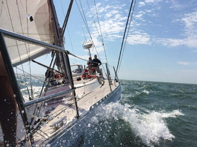 Participants in the U.S. Coast Guard Academy's Coastal Sail Training Program navigate the waters of southern New England for two weeks.