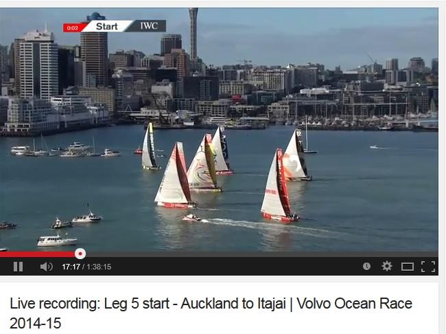 Auckland Leg 5 Start video