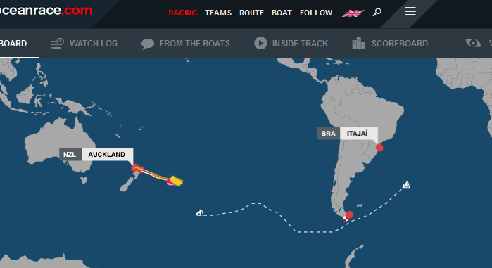 March 21, 2015 Volvo Ocean Race positions