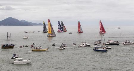 volvo ocean race leg 6 start