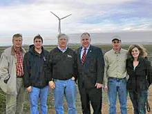 Rep. Walz visits the Bingham Lake Wind Farm to discuss energy policy.