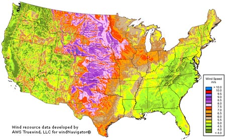 U.S. Wind Resource Map