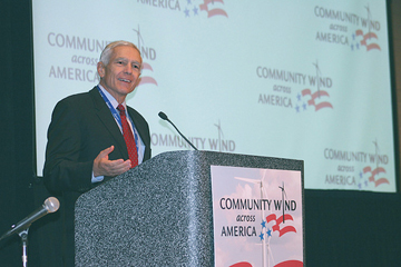 General Wesley Clark deleivering keynote address at Community Wind across America Midwest conference, 2010