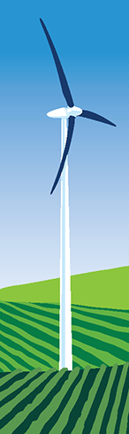 Turbine Energy on a Stick