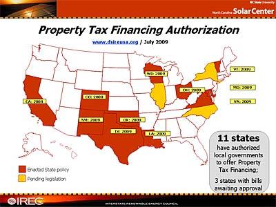 Property Tax Financing Authorization