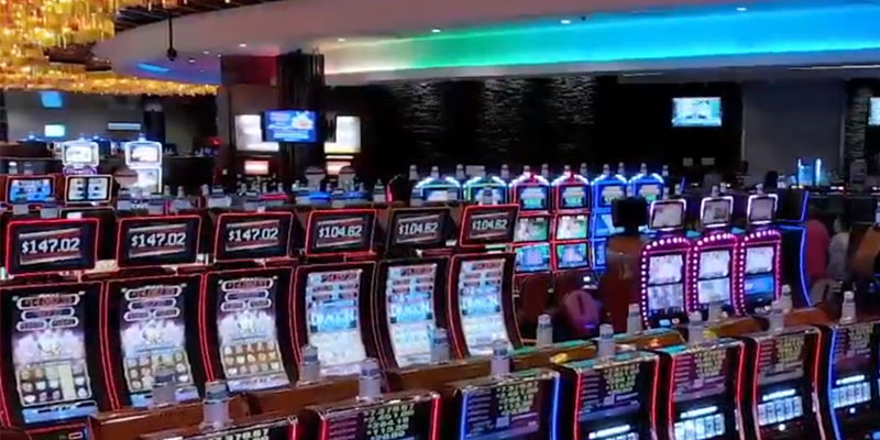 Electronic bingo machines in a Wind Creek Casino