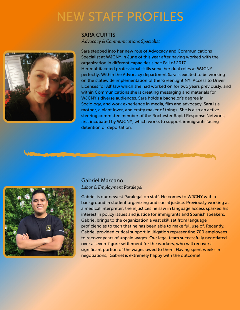 WJCNY New Staff Profiles