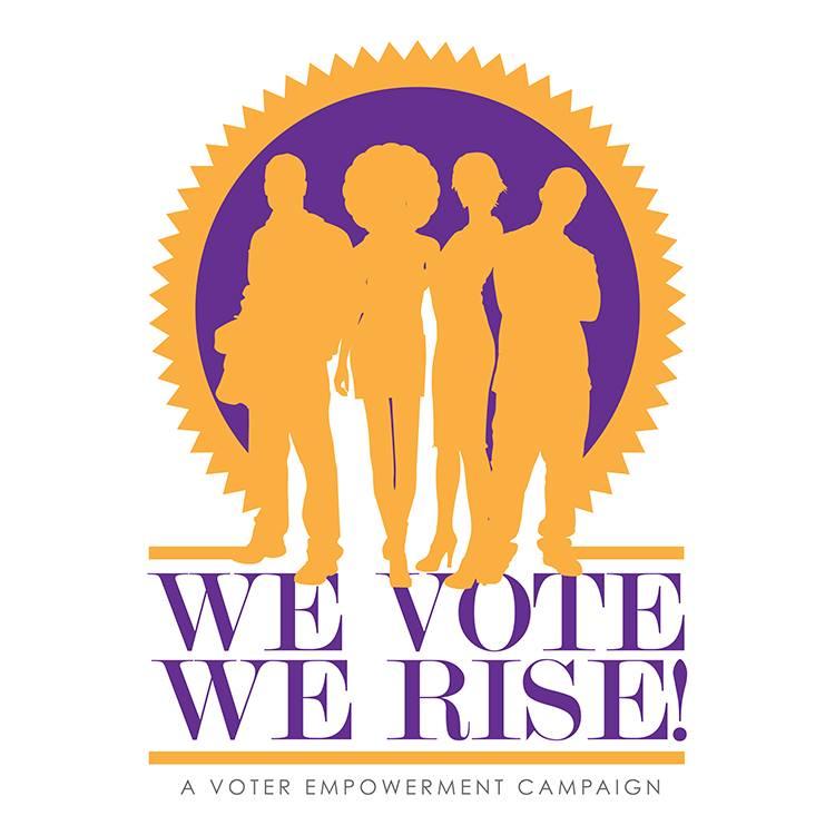 WE Vote, WE Rise Logo