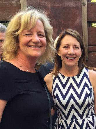 Mayor of Costa Mesa Katrina Foley with Kim Bennett