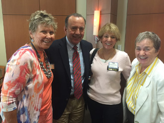 Karen Clark, Mark Petracca, Lorraine Prinsky and Pat Schuler