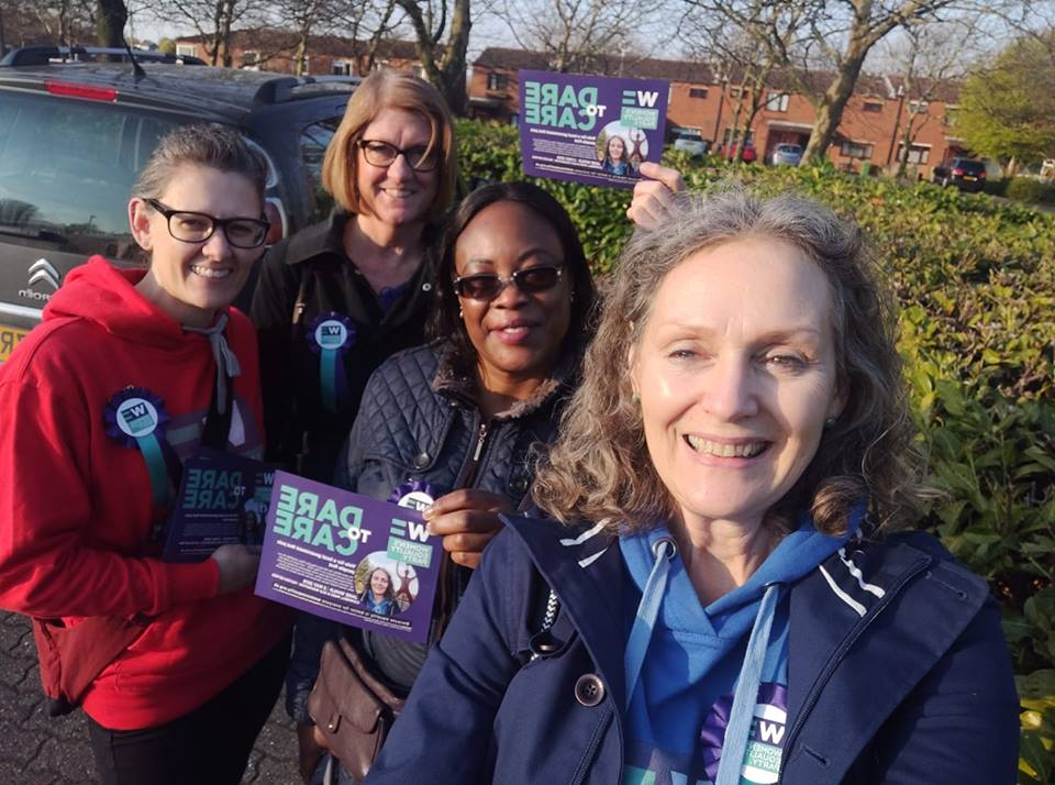 Canvassing for Jane Whild