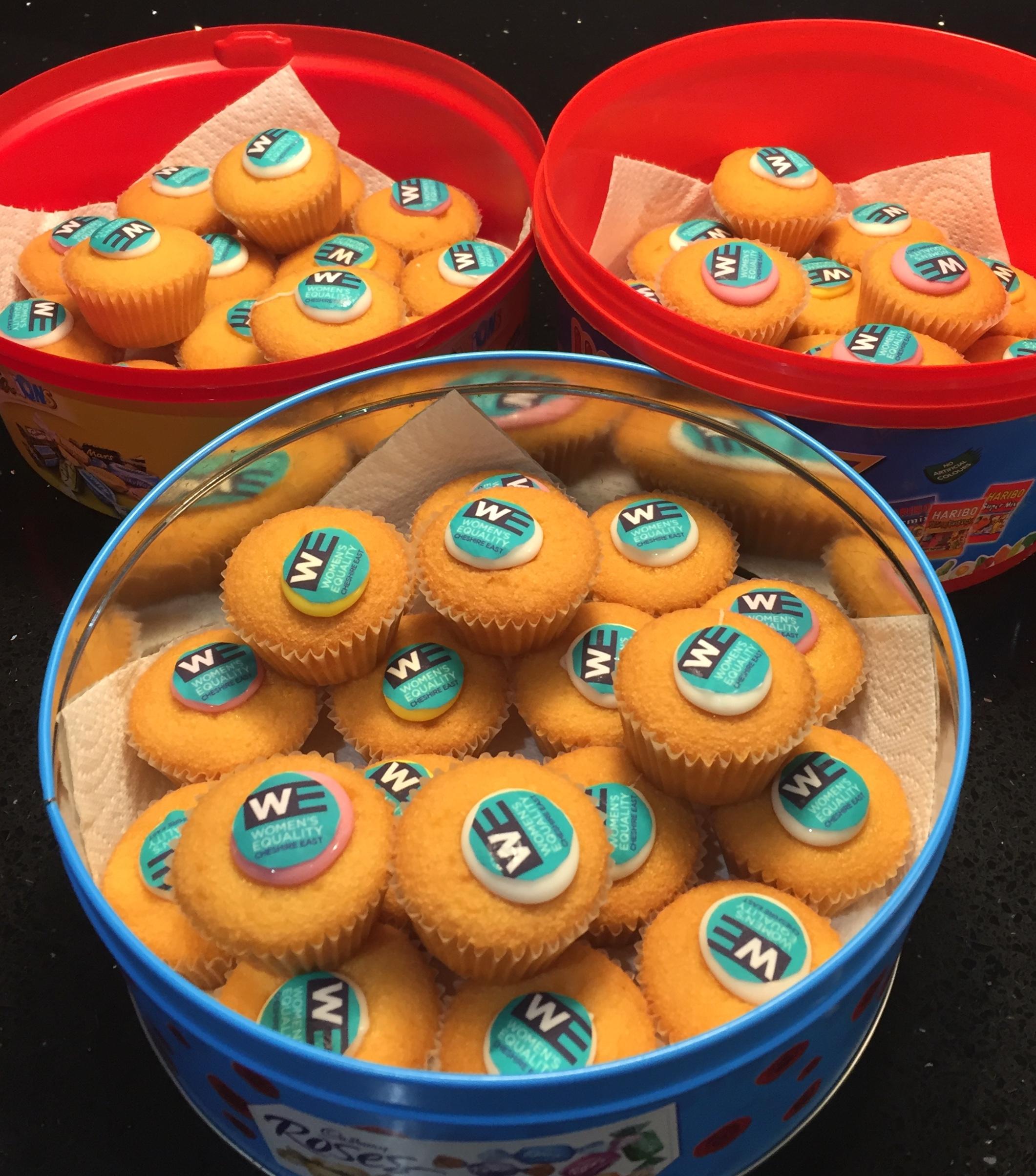 Sponge cakes with WE logo