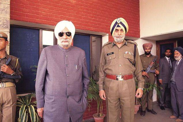 CM Beant Singh and DGP KP Gill