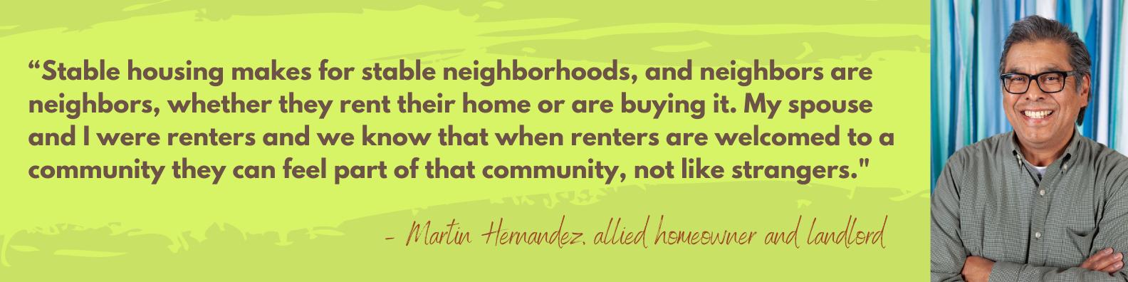 Martin Hernandez quote