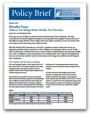 Policy Brief Template | Policy Brief Breathe Easy Tobacco Tax Brings Better Health New