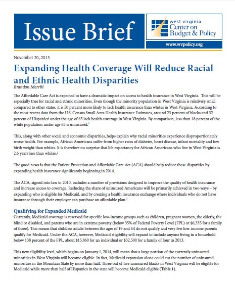 Minority health report
