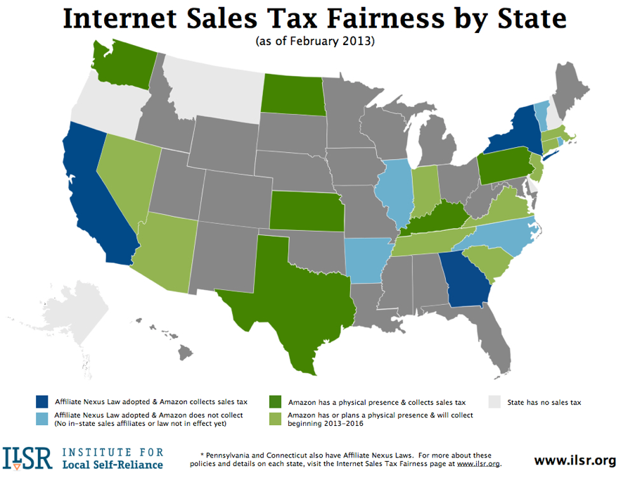 Image result for amazon collects sales tax