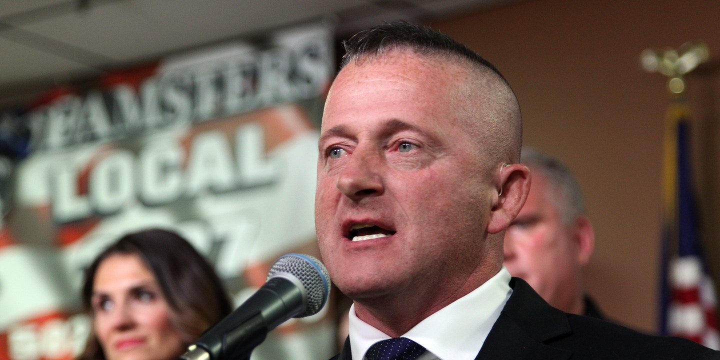 Richard Ojeda at a lectern