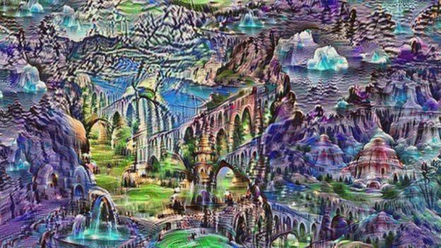 A landscape drawn by AI