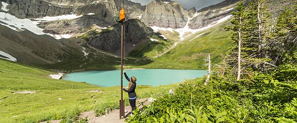 Hanging food in Glacier National Park