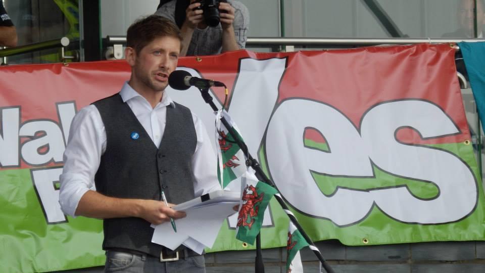 Iestyn ap Rhobert YesCymru Rally