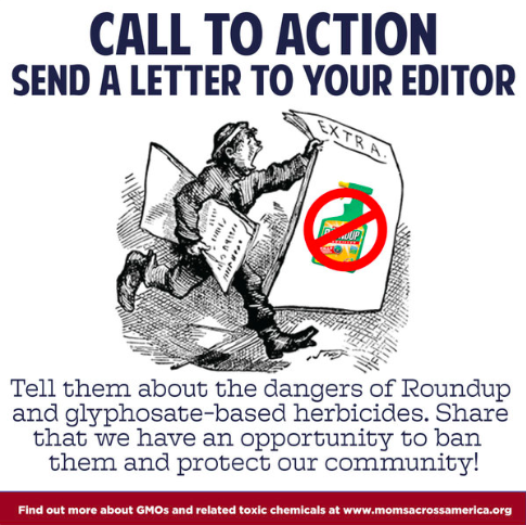 Letters to the Editors About Glyphosate Herbicides - Moms