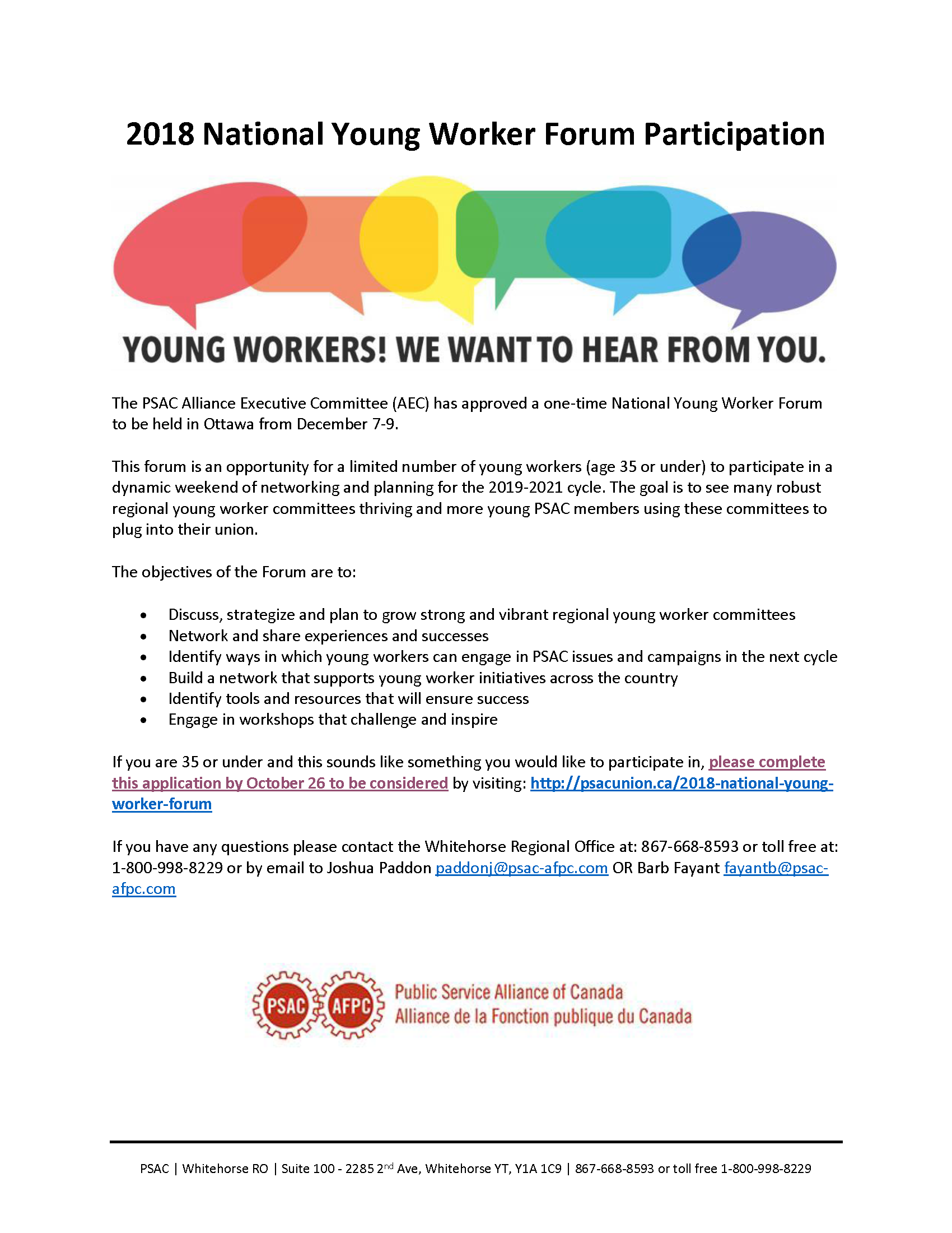 Young Workers! We Want To Hear From You  - Yukon Employees