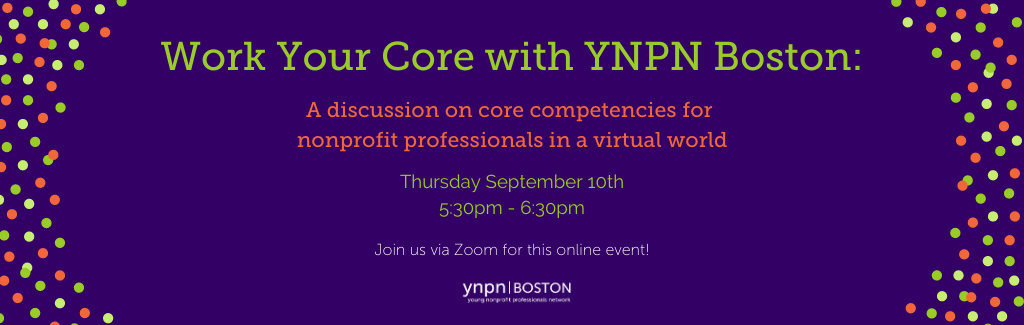 Work your core with YNPN Boston