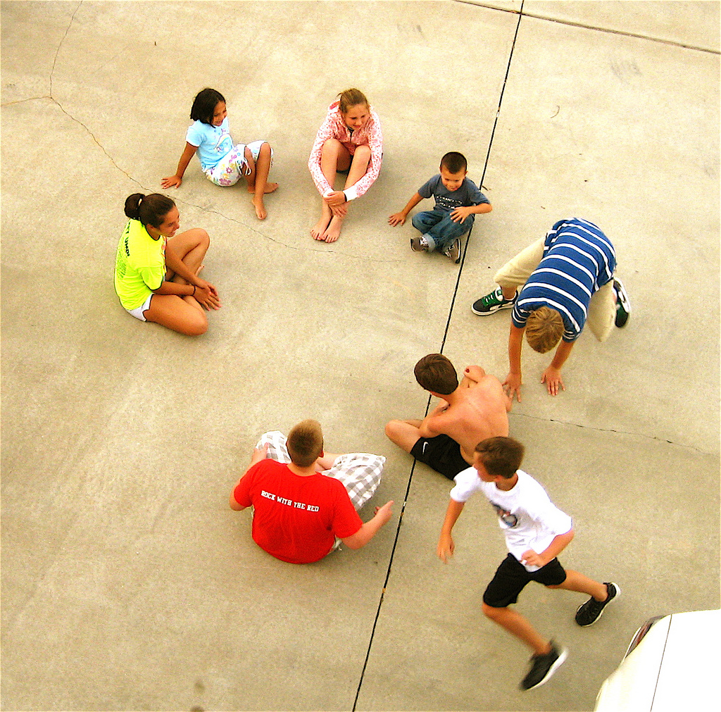Kids playing game