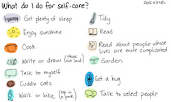 Organizing self care