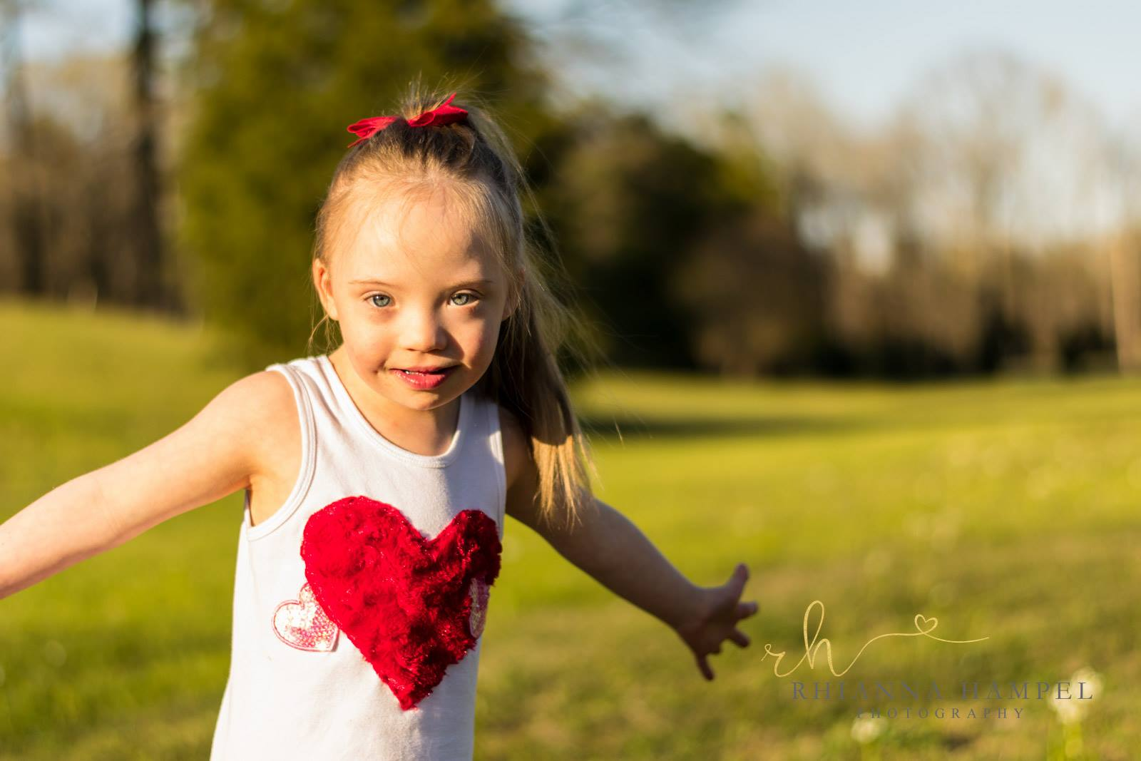 Adyson with a heart t-shirt