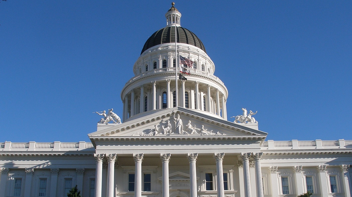 Photo of California state capitol building