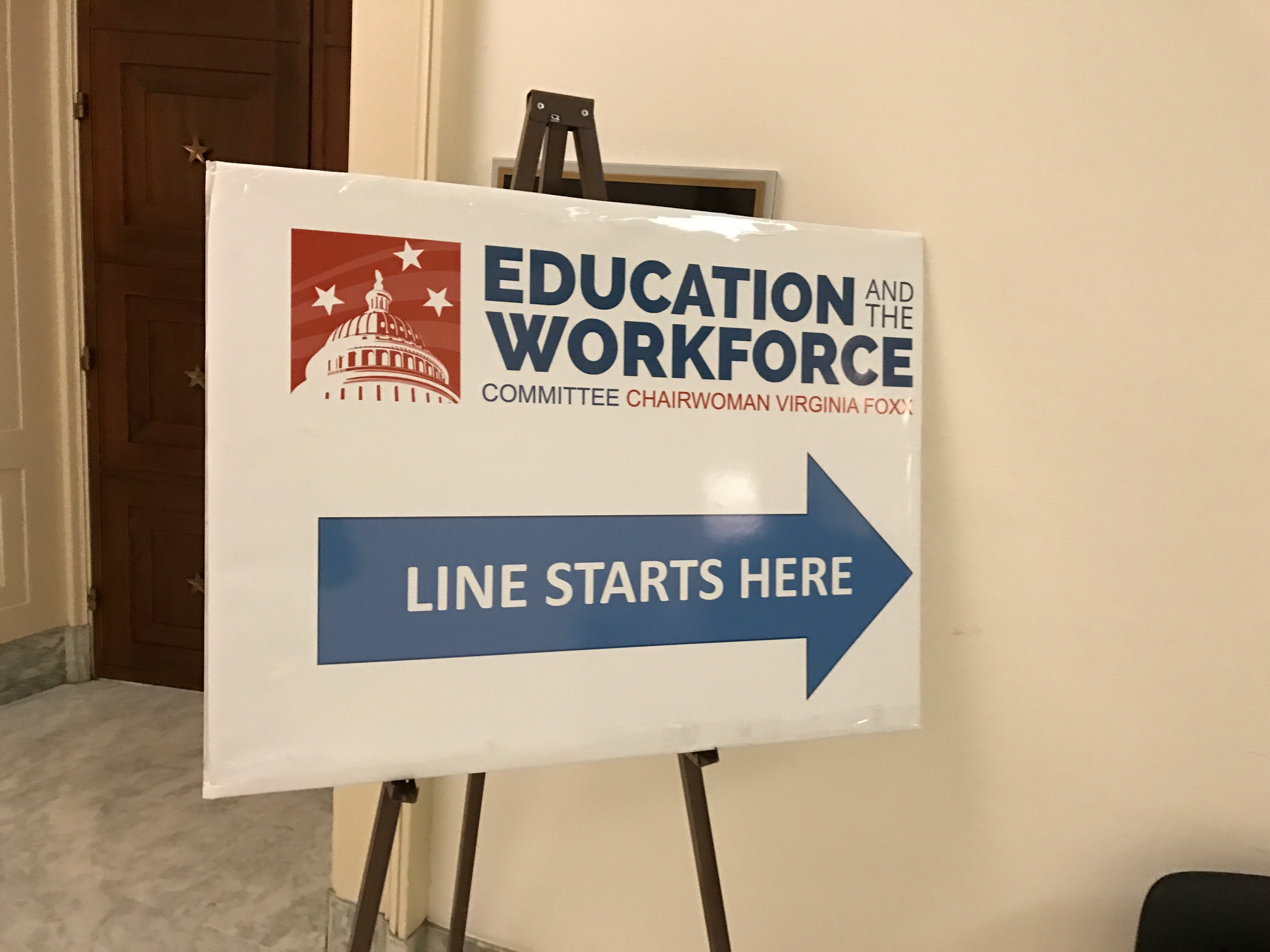 Sign for Education Workforce Committee meeting